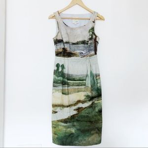 Anthropologie Odille Artist's Rendering Dress